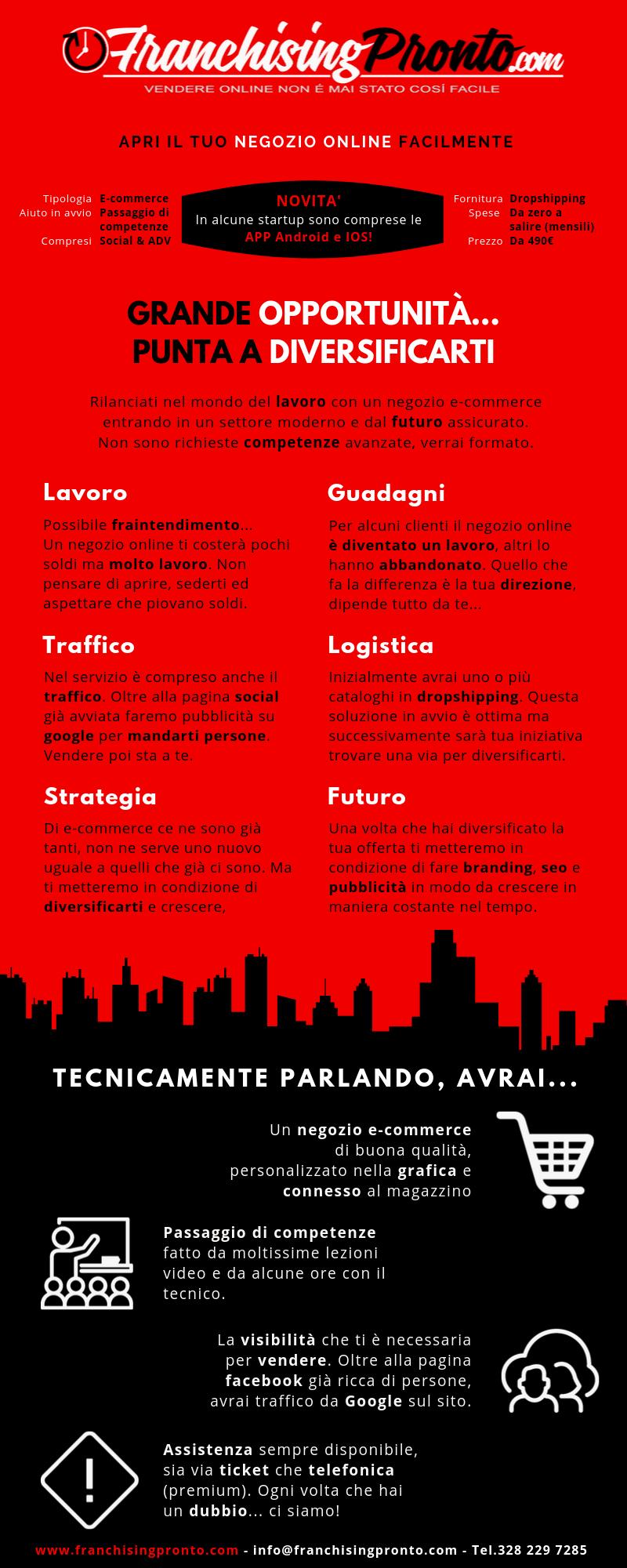 Infografica Franchising Pronto